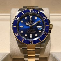 Rolex Submariner Date Steel and Gold Blue B&P