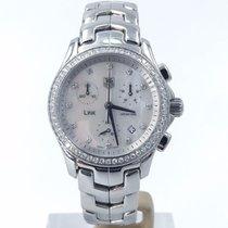 TAG Heuer Ladies Link Chrono 33mm Diamond Bezel Mop Diamond...