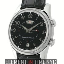 Girard Perregaux Traveller II Alarm GMT Steel 40mm Black Dial