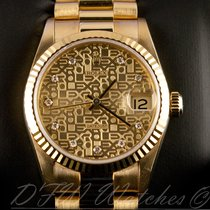 Rolex 18k Yellow Gold Midsize President Datejust 31mm 68278