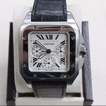 Cartier Santos 100 XL Chronograph Ref 2740 Stainless Steel 41MM
