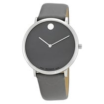 Movado Museum 70th Anniversary Grey Dial Men's Leather Watch