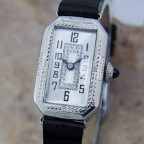 Bulova Rare 1920s Ladies White Gold Plated Luxury Mechanical...