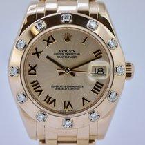 Rolex Lady-Datejust Pearlmaster 81315 ZF Rose und Brill Lünette