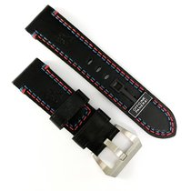 Panerai 24 / 22mm black calf leather strap with pin buckle NEW