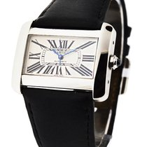 Cartier W6300755 Tank Divan Large Size in Steel - on Black...