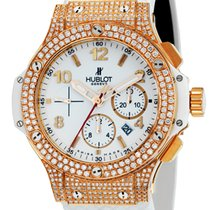 Hublot Big Bang Chronograph 44mm Rose Gold and White Rubber...