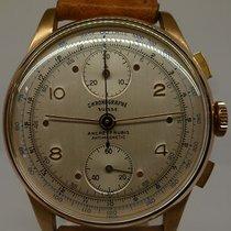 CHRONOGRAPH SUISSE vintage chrono meca BRITIX mvt pink gold
