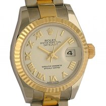 Rolex Datejust Lady Stahl Gelbgold Automatik Oyster Armband...