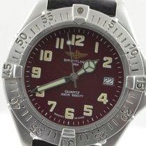 Breitling Colt Quartz Herren Uhr Stahl/stahl 37mm Quartz Rot...
