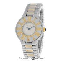 Cartier Ladies Must de   Bullet Bracelet Quartz Steel Gold 28MM