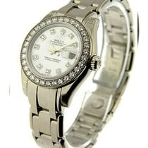 Rolex Unworn 80299 Ladys White Gold Masterpiece - 32 Diamond...