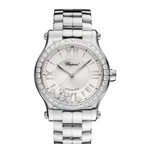 Σοπάρ (Chopard) Happy Sport Medium Diamond Automatic Ladies ...