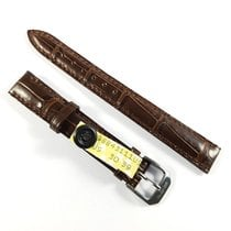 Wempe 13mm brown alligator leather strap with pin buckle NEW
