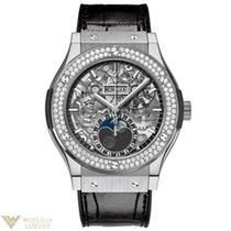 Hublot Classic Fusion 45 mm Moonphase Titanium Diamonds...
