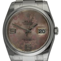Rolex - Datejust : 116200 pink floral motif dial on Heavy...