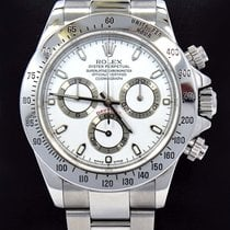 Rolex Daytona 116520 Cosmograph Steel Oyster White Dial Watch...