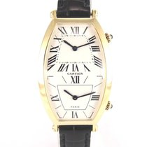Cartier Tonneau gold double timezone