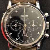 Patek Philippe 3970 Perpetual Calendar Chrono Black Diamond...