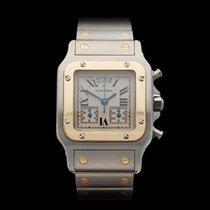 Cartier Santos Galbee Chronograph Stainless Steel & 18k...