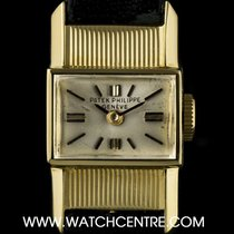 Patek Philippe 18k Yellow Gold Silver Dial Cocktail Ladies...