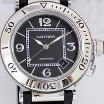 Cartier Pasha Seatimer Date Automatic Steel Sportler Luxusuhr...