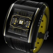 SLYDE SPORT YELLOW & BLACK  - LIMITED - Rubber + Croco Strap