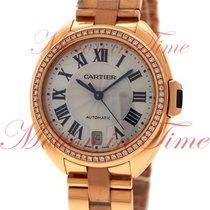 Cartier Cle de Cartier 35mm, Silver Dial, Diamond Bezel - Pink...