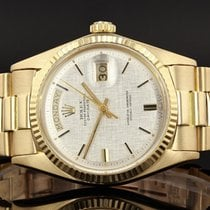 Rolex Vintage President Day-Date - 1803 - Linen Dial -  18ct...