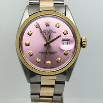 Rolex Oyster Perpetual Date 34MM AUTOMATIC STEEL/GOLD WHITE DIAL