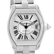 Cartier Roadster Automatic Silver Dial Mens Watch W62025v3 Box...
