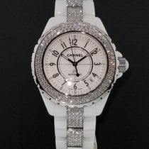 Chanel J12 White Ceramic H1422 38mm Automatic Factory Diamond...