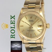 Rolex Datejust 18k Yellow Gold Champagne Dial Midsize Ladies...