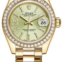 Rolex Lady Datejust 28mm Yellow Gold 279138RBR Linden Green 44...