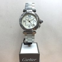 Cartier Pasha 36mm Automatic Ref: 2377 Ivory Motif Dial