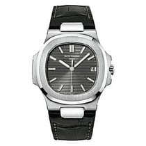 Patek Philippe Nautilus White Gold Leather B&p - 5711g