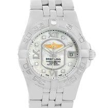 Breitling Starliner Mother Of Pearl Diamond Dial Ladies Watch...