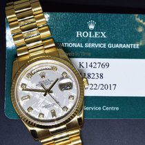 Rolex Day-Date President 18k Gold Meteorite Diamond Dial Mens...