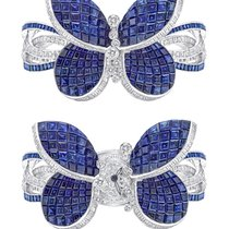 Graff Princess Butterfly White Gold, Sapphires & Diamonds...