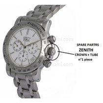 Zenith Corona Acciaio + Tubo  Per Ref 15/02.0460.400 Cronograf...