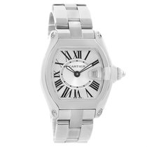 Cartier Roadster Small Silver Dial Steel Ladies Watch W62016v3