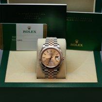 Rolex Datejust  41mm Steel & Rose Gold Fluted Bezel