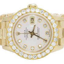 Rolex Ladies Rolex Presidential 18K Yellow Gold 26MM White MOP...