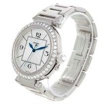 Cartier Pasha 42mm 18k White Gold Diamond Watch Wj1202m9