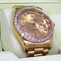 Rolex Day-date II President 218238 18k Yellow Gold 3.25ct...