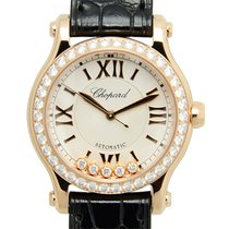 Chopard Happy Sport 18 K Rose Gold With Diamonds Silver...