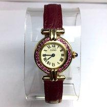 Cartier Colisée Gp Argent Ladies Watch W/ Pink Sapphires,...