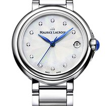 Maurice Lacroix Fiaba. Pearl Dial, Diamond Index, 32mm Steel...