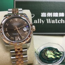 Rolex Cally - 178341 31mm Datejust Gold Steel Chocolate VI Dial