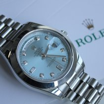Rolex Day Date 41mm Automatic Ice Blue Dial Platinum